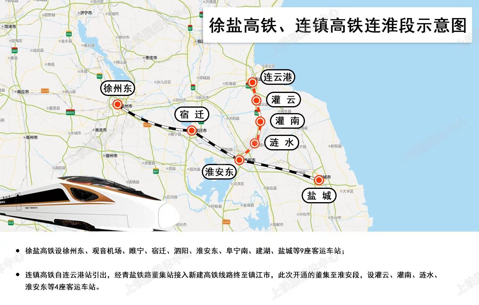 今起售票 徐盐高铁16日开通 苏北苏中地区接入全国高铁网