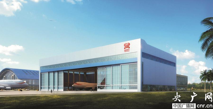 北京承建海口美兰2号飞机库钢结构今年3月将整体提升
