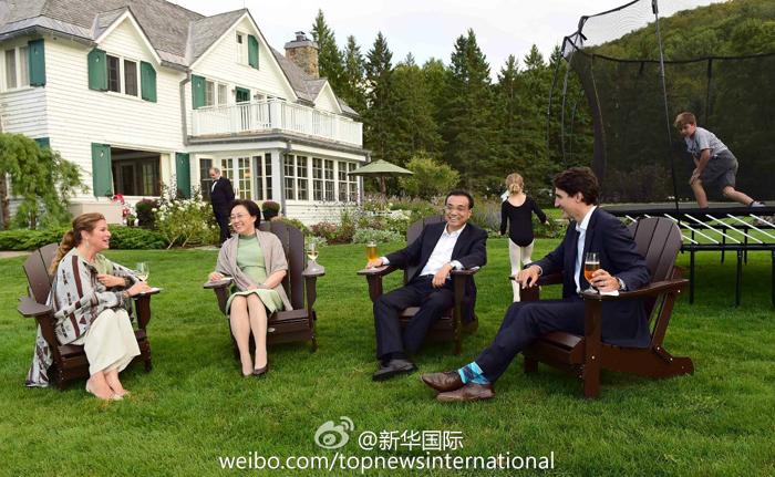 李克強出席加拿大總理家宴
