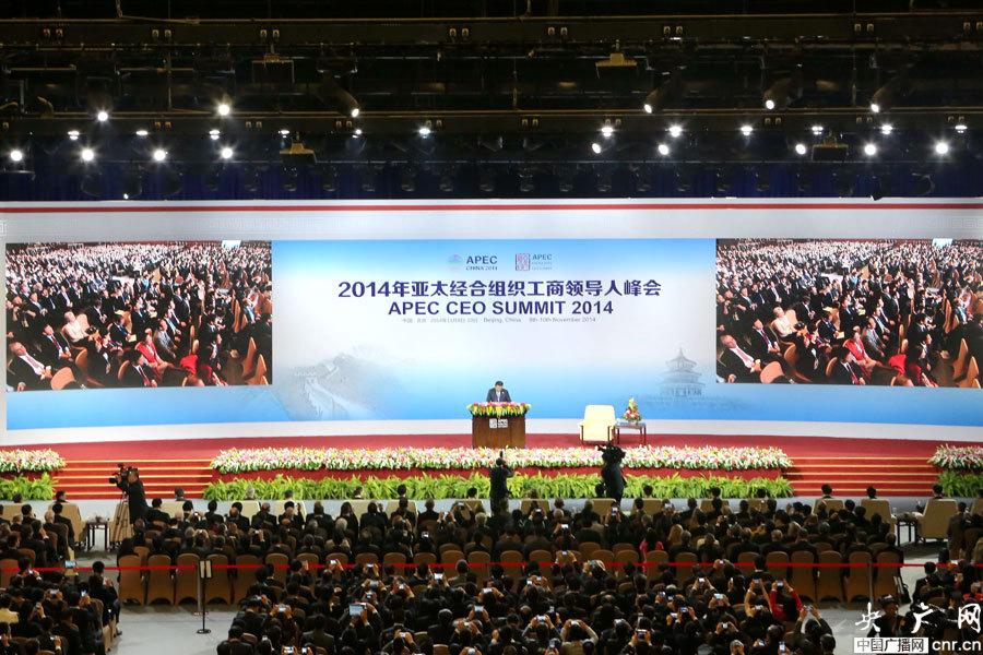 2014年亚太经合组织工商领导人峰会开幕式图片